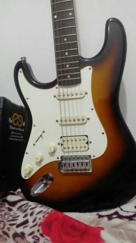 Guitarra Stratocaster Lyon by washbarn para canhoto