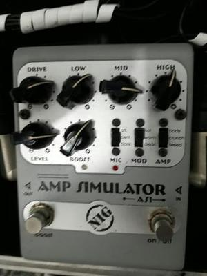 Pedal amp simulador AS1 Nig