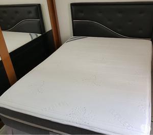 Conjunto cama box de casal