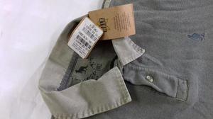 Camisa Polo Side Walk sem uso - Verde Oliva - Tamanho G -