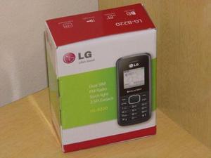 Celular LG B220 dual sim radio fm c/memorias novo 0km o