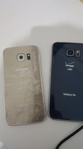 Vendo ou Troco! Galaxy S6 Flat e Edge com Display queimado