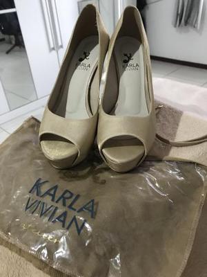 Sandália alta - Karla Vivian - 37