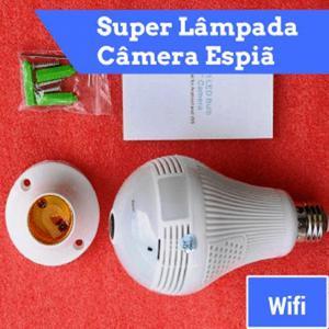 Super Lâmpada LED Câmera Espiã com Wifi