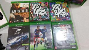 Xbox One semi novo 06 Jogos originais e 02 Controles