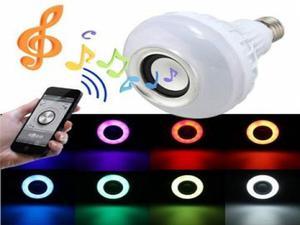 Lâmpada Led Music Bluetooth Rgb 7w Caixa De Som e Controle