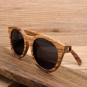 Óculos de sol unissex com armação 100% madeira