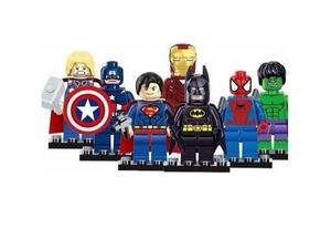 Bonecos Blocos De Montar Super Heroes Marvel - Lote Com 7