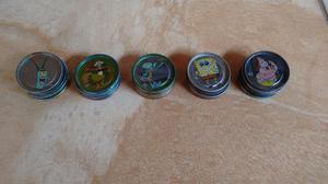 Coleção impecável de tazos do bob esponja