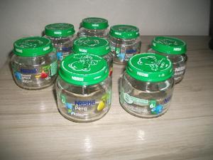 Lote Com 8 Vidros De Papinha Nestle Vazio 115 Gramas