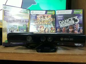 Xbox  GB +6 Jogos originais+sensor kinect com 3 jogos
