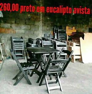 Mesa e cadeiras dobráveis direto da fábrica