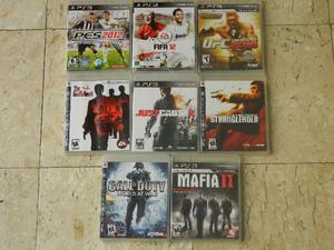 Jogos para Playstation 3 - 8 CDs Originais