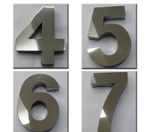 Números Em Aço Inox 15cm 3d Alto Relevo Caixa Alta