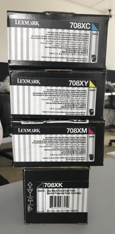 Cartucho toner lexmark - original - todas as cores