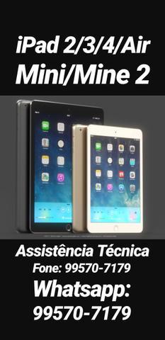 IPad 2/3/4/Air/mini/mini 2 Assistência Técnica(Troca de