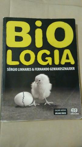 Livro de Biologia volume único - editora Ática