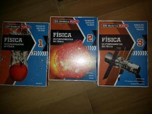 Livros fundamentos da fisica I,II e III- livros ensino medio