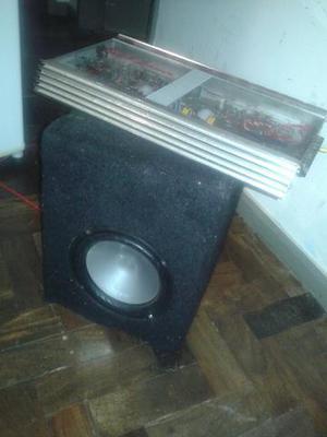 Subwoofer bravox 8 polegadas na caixa e modulo de  watts