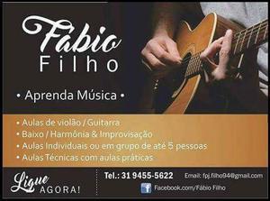 Aulas de Violão Guitarra Contra-baixo