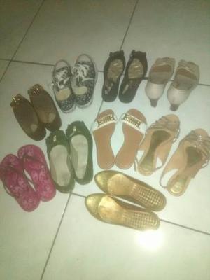 9 pares de calçados