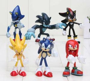 Sonic Lançamento Kit com 6 Personagens do Desenho Sonic