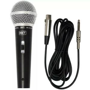 Microfone Profissional M-58 Dinamico Com Cabo De 3 Metros