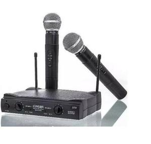 Microfone Sem Fio Uhf Duplo Wireless bivolt Lelong Max para