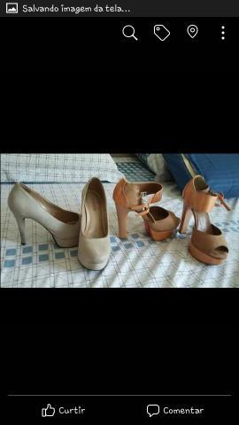 Sandálias e Sapato peep toe