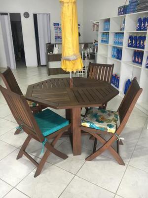Conjunto de jardim Mesa+ cadeiras+ guarda sol