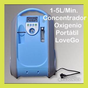 Concentrador de Oxigênio Portátil 1-5L/min LoveGo