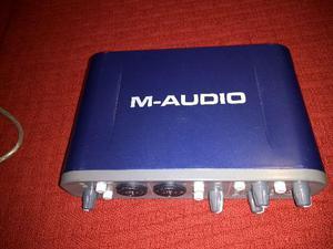 Placa de áudio externa M Áudio