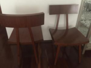 Cadeiras em madeira super confortáveis. Móveis Líder, de