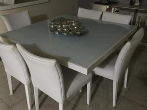 Conjunto ETNA mesa de jantar 6 lugares