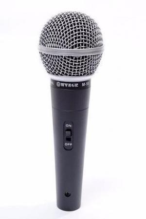 Microfone Profissional Com Cabo M-58 Sm58 Wvngr Mxt - Novo