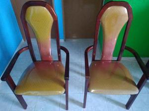 Par de Cadeiras de Canto em Madeira Maciça Ótimo Estado