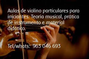 Aulas de violino para iniciantes