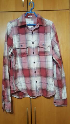 Camisa xadrez flanelada abercrombie