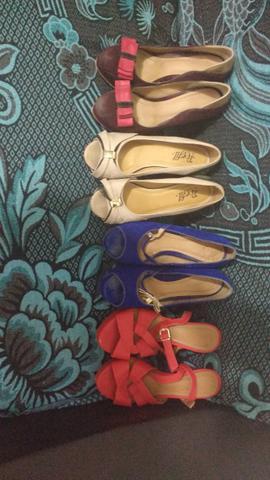 7 Pares de sapato de salto