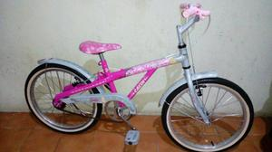 Bicicleta aro 20 Caloi Barbie semi nova
