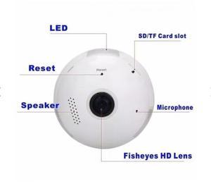 Câmera espiã Ip Lampada 360 Graus HD