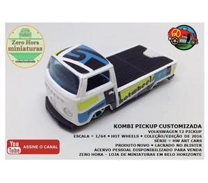 Miniatura Hot Wheels Kombi T2 Customizada 164