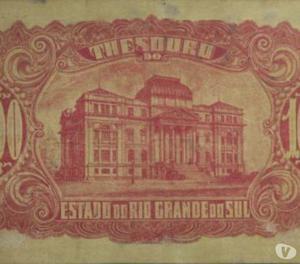 Cédula de 100 Mil Réis, Thesouro do Rio Grande do Sul - Bc