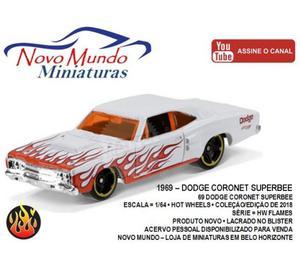 Miniatura Hot Wheels  Dodge Coronet (HW Flames) 164