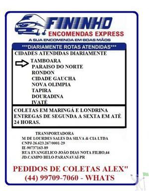 SERVIÇO DE ENTREGA E COLETA DE ENCOMENDAS EM 24 HORAS