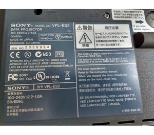 Projetor Sony Svga 3Lcd Vpl-Es2 - Defeito