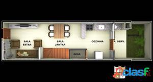 Sobrado novo com 2 dormitórios em condomínio fechado
