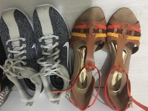 Tênis e sandálias
