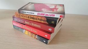 Livros Dan Brown e Clube da Luta - Lote com 5