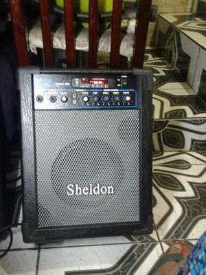 Caixa de som marca Sheldon Usada porém nova (LEIA A